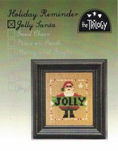 Holiday Reminder: Jolly Santa christmas cross stitch chart The Trilogy - $5.00