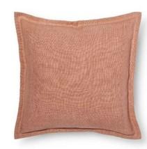 """NEW Linen Throw Toss Pillow Cover Threshold Pink Coral Tan Linen Blend 18""""x18"""" - $10.79"""