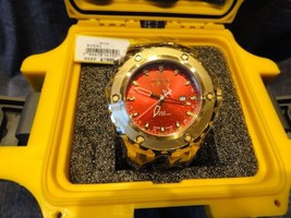 invicta model no. 80591 with yellow invicta watch box watertight case - $425.00