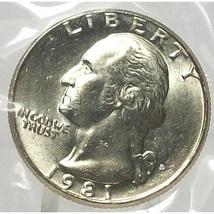 1981-D Washington Quarter MS65 In The Cello #693 - $4.79