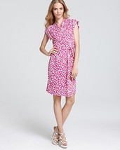 DIANE von FURSTENBERG Mindy Wrap Dress in Leopard Beets size 10 - $249.99