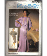 Simplicity 6700 Lauren Hutton Pattern 10 12 14 Dress designer kimono for... - $7.77