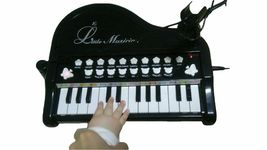 World Distribution Kids Grand Piano with Microphone Melody Musical Toy (Black) image 3