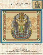 Tutankhuman JE110 cross stitch chart Joan Elliott Designs - $14.00