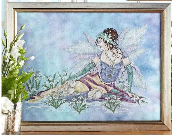 Snow Drop Fairy JE111 cross stitch chart Joan Elliott Designs