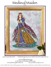 Medieval Maiden JE114 cross stitch chart Joan Elliott Designs - $14.00