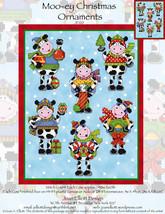 Moo-ey Christmas Ornaments JE120 cross stitch chart Joan Elliott Designs - $14.00