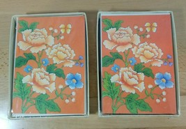Vintage Designer American Greetings 8 Blank Note Cards and Envelopes Flo... - $15.29