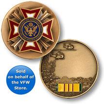 United States VFW Vietnam Veteran Engravable Challeng Coin - $15.99