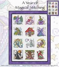 A Magical Year Of Stitching JE119 cross stitch chart Joan Elliott Designs - $14.00