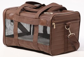 Pet Carrier, Small Original Brown Puppy Animal Travel Backseat Small Dog... - $45.99