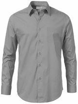 Men's Solid Long Sleeve Formal Button Up Standard Barrel Cuff Dress Shirt image 7