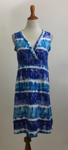 Calvin Klein Jeans Sleeveless Casual Watercolor Surplice Dress sz Small - $19.79