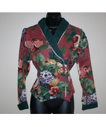 Vintage Western Style Floral Fitted Tailored Cropped Jacket 10 Tobael - $12.00