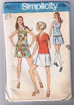 Vintage SIMPLICITY 8657 - Misses' Mini-Pantdress - Size 14 - UNCUT