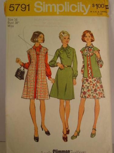 implicity 5791 Vest Dress Miss 14 1973 Bonanza