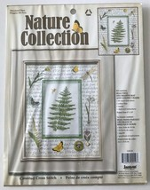 Janlynn Woodland Fern Counted Cross Stitch Kit 1155-59 + Golden Charm 20... - $13.54