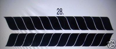 SIDE STRIPE #28 DECAL GRAPHIC CAR TRUCK SUV VAN AUTO