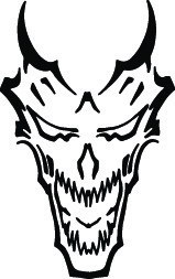 DEMON #21 DECAL GRAPHIC CAR TRUCK SEMI TRAILER SUV AUTO