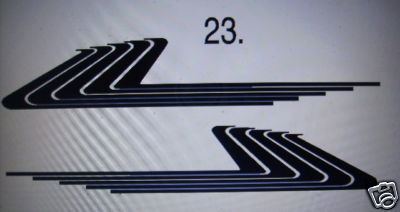 SIDE STRIPE #23 DECAL GRAPHIC CAR TRUCK SUV VAN AUTO