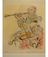 Ira Moskowitz (1912 - 2001) . listed artist  . Etching . signed . Musicians - $250.00