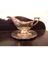 Silverplate Gravy Boat with Underplate ... Great Deco Look - $19.00