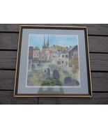 Claude Grosperin . Limited Edition Print . Cityscape - Village Scene - $95.00