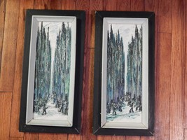 Ellen Nicotra . Pair of Oil Paintings . Abstracts - $195.00