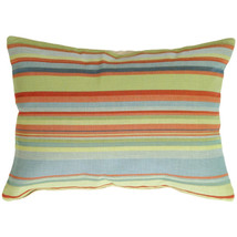 Pillow Decor - Tropical Stripes Rectangle Pillow - £61.02 GBP