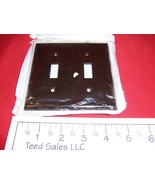 2 Gang Brown Wall Plate Double Toggle Switch 357348 Lot of 5 - $6.97