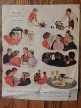 Douglass Crockwell . 1954 LOOK Mag, Ad . Beer . US Brewers / Nescafe oth... - $29.00