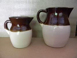 Vintage pair of Robinson Ransbottom Pottery Pitchers . USA . Americana B... - $49.00