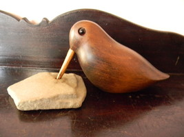 Wood Carved Bird Carving Sculpture , with Drill... - $95.00