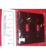 2 Gang Brown Nylon Wall Plate Double Toggle 2139 Lot of 5 - $8.15