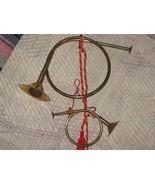 Vintage Brass Decorative Hunting (Fox) Horns (Set of 2) - $14.50