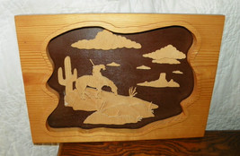 Pine and Birch Weary Indian Carved Picture & Frame  (HD166) - $89.00