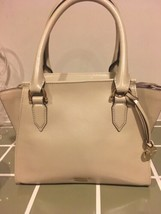 Authentic New Nwt Brahmin $325 Leather Priscilla Grey Sand Topsail Satchel - $187.00