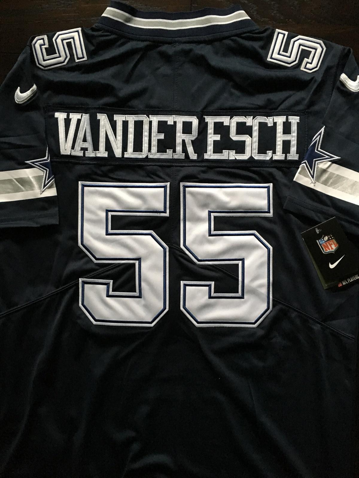 1e94738f6 Leighton Vander Esch #55 Dallas Cowboys Sewn Navy Game Jersey Mens Small