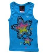 Girls Rule! Size 5 Girls Aqua Blue Zebra Print Star and Studs Ribbed Tan... - $2.99