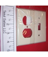 2 Gang Creative Accents Steel Wall Plate 1 toggle 1 Duplex Ivory 8IS106 ... - $8.15