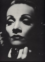 Marlene Dietrich. 1978 Reproduction Print. 10.5 X 12 - $11.76