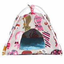 PANDA SUPERSTORE Winter Warm Bird Nest House Bed Hut Hanging Hammock Toy Parrot
