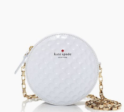 Primary image for NWT KATE SPADE New York On Par Dotty White Golf Ball Shoulder Bag - ($298)