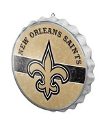NFL New Orleans Saints Distressed Bottle Cap Wall Sign -Round Man Cave M... - $24.70
