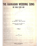 The Hawaiian Wedding Song: Ke Kali Nei Au - $8.00
