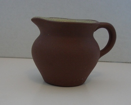 "Pigeon Forge Pottery Pitcher Miniature Signed 2 1/4""s Brown Yellow - $5.90"
