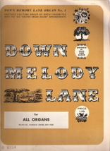Down Melody Lane for All Organs - $6.00