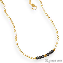 Handcrafted Hematite Bar Design Necklace - $54.98