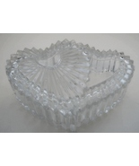 Mikasa Germany Frosted Double Heart Crystal Trinket Keepsake Box  - $9.99