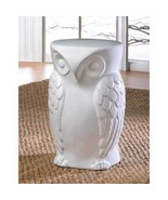 STOOL Decorative WISE OWL Ceramic weight limit:... - $74.95